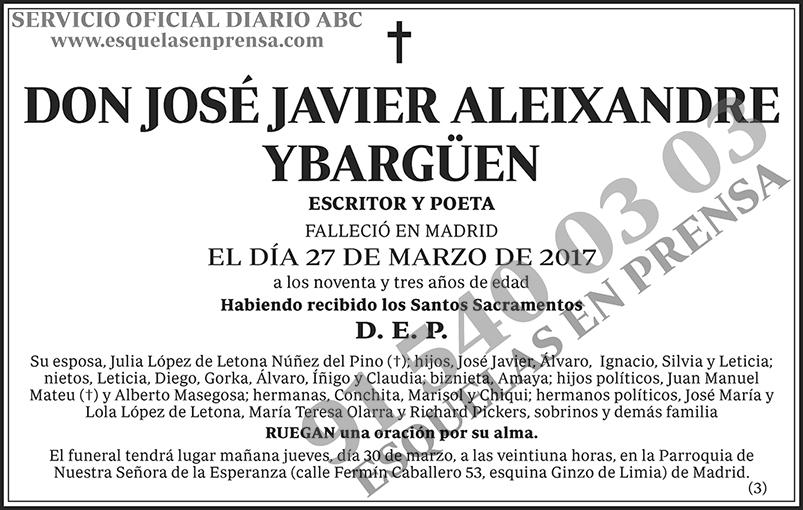 José Javier Aleixandre Ybargüen
